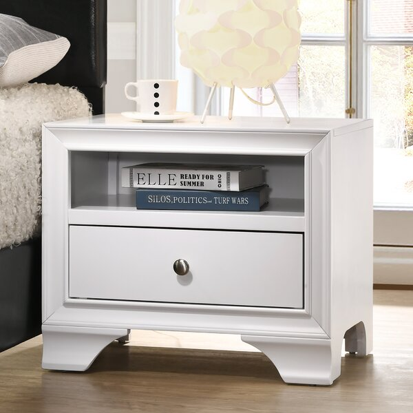 Cleckley 1 Drawer Nightstand by Red Barrel Studio