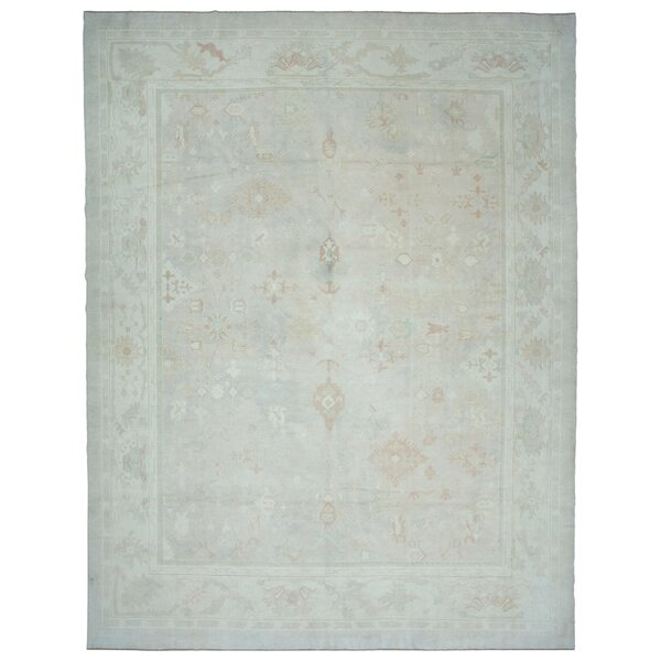 One-of-a-Kind Simrah Hand-Knotted 1960s Turkish Teal 13' x 17' Area Rug