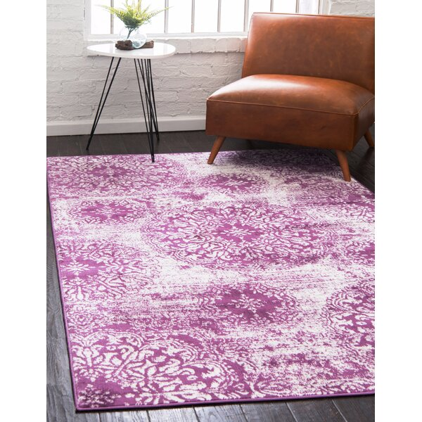 Brandt Purple Area Rug by Mistana