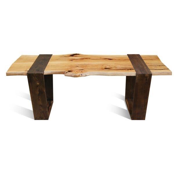 Leandro Solid Wood Dining Table by Loon Peak Loon Peak