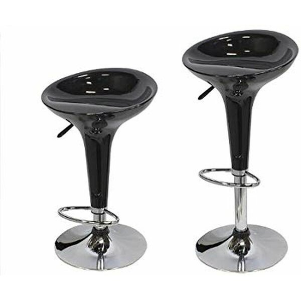 Maile Modern Hydraulic Adjustable Height Swivel Bar Stool (Set of 2) by Orren Ellis Orren Ellis