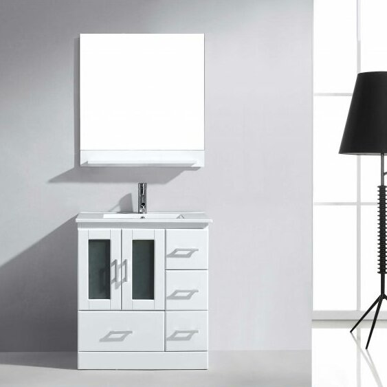 Duke 30 Single Bathroom Vanity Set with Mirror by Wade Logan