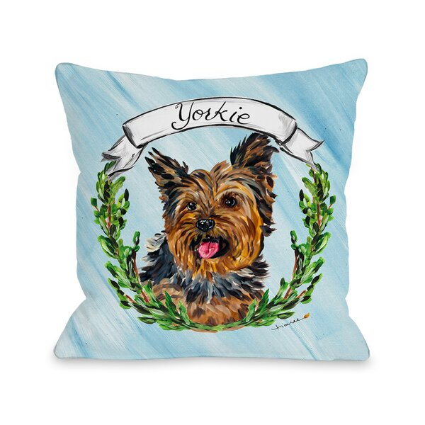 Yorkie Throw Pillow by One Bella Casa