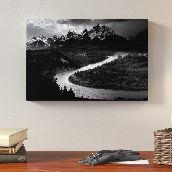 The Tetons - Snake River by Ansel Adams Photographic Print on Wrapped Canvas by Loon Peak