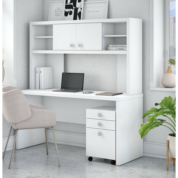 Echo 3 Piece Desk Office Suite by Kathy Ireland Office by Bush