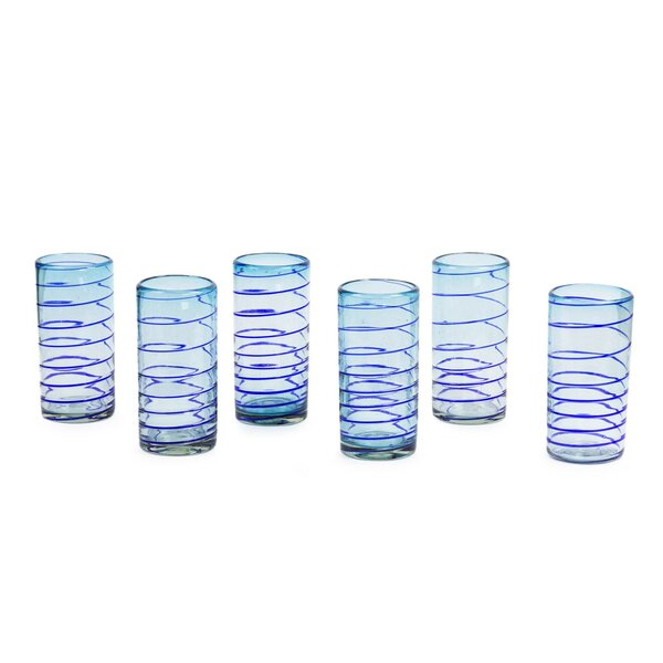 Esopus Spiral Blown Water/Juice Glass (Set of 6) by Latitude Run