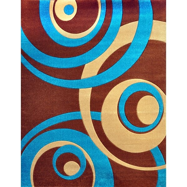 Melfa Turquoise/Brown Area Rug by Orren Ellis