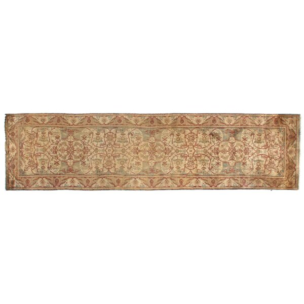 Polonaise Hand-Knotted Wool Cream/Sage Area Rug by Exquisite Rugs