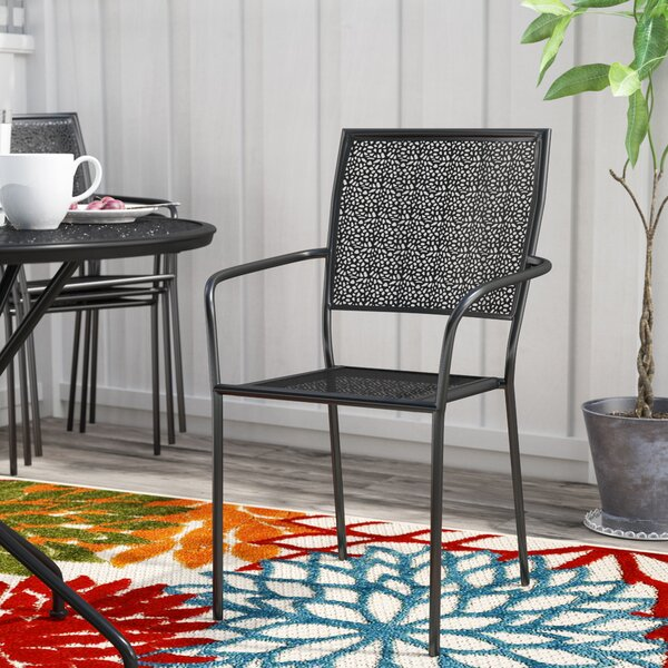 Aldergrove Stacking Patio Dining Chair by Winston Porter