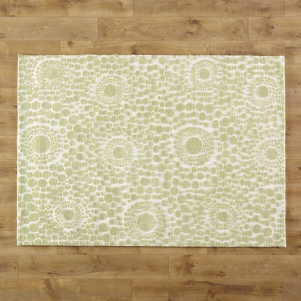Dandelion Wishes Hand-Woven Olive Green/Beige Area Rug by Birch Lane Kids™