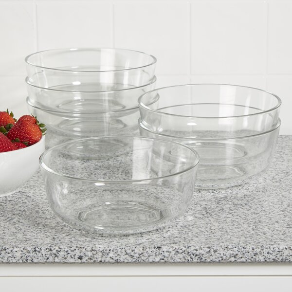 Wayfair Basics 44 oz. Glass Bowls (Set of 6) by Wa