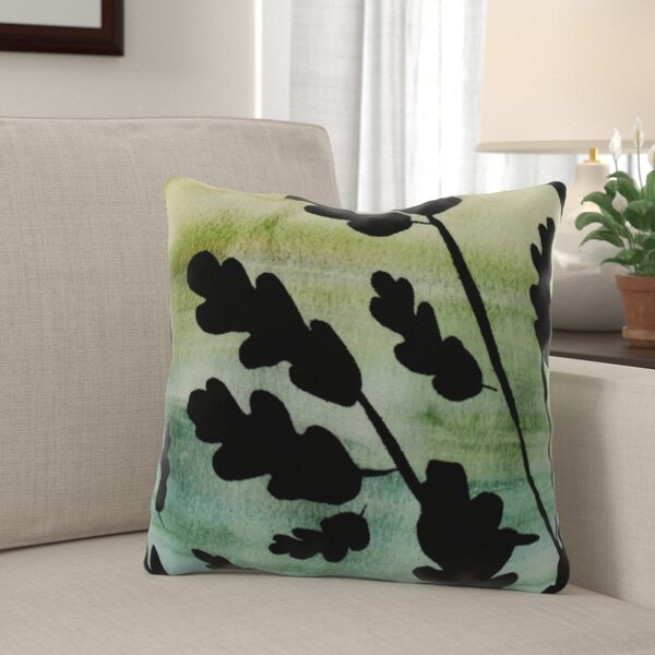 Laperle Flowing Leaves Floral Throw Pillow by Winston Porter