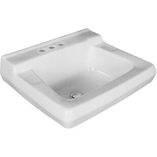 Willow Run Vitreous China 20 Wall Mount Bathroom Sink with Overflow ByMansfield Plumbing Products