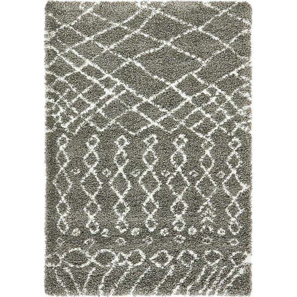 Bourne Machine woven  Gray Area Rug by Bungalow Rose