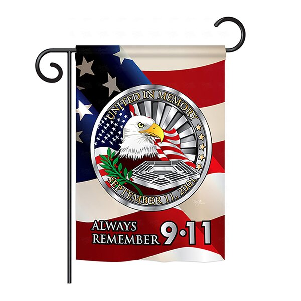 Always Remember 9-11 2-Sided Vertical Flag by Breeze Decor