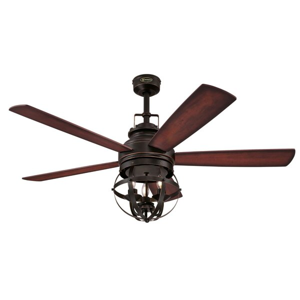 52 Genna 5 Blade LED Ceiling Fan with Remote by Gracie Oaks