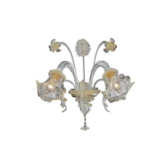 Gearhart 2 Light Wall Lamp Fleur De Lis Living