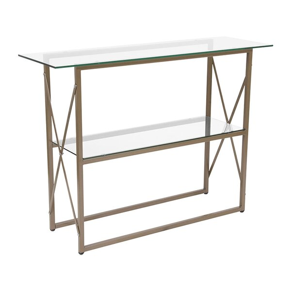 Huntsville Glass Console Table by Mercer41