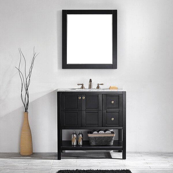 Caldwell 36 Single Bathroom Vanity Set with Mirror by Beachcrest Home