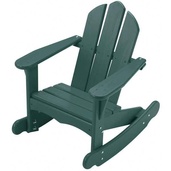 Bailey Youth Solid Wood Rocking Adirondack Chair by Little Colorado