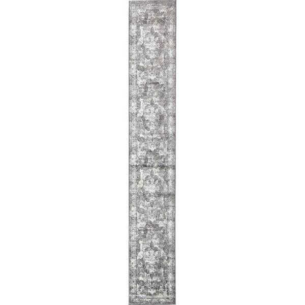 Brandt  Machine Woven Indoor Gray Area Rug by Mistana