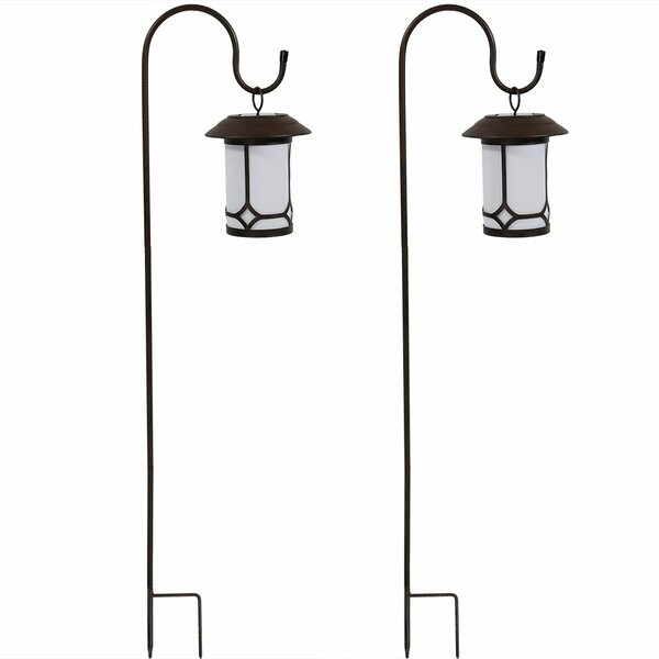Orpha Traditional Solar Outdoor Hanging Lantern (Set of 2) by Charlton Home