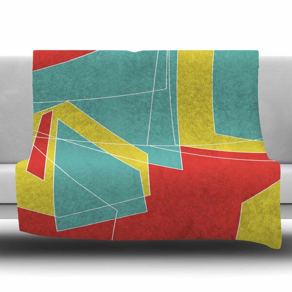Cartagena Walls by MaJoBV Fleece Blanket by East Urban Home
