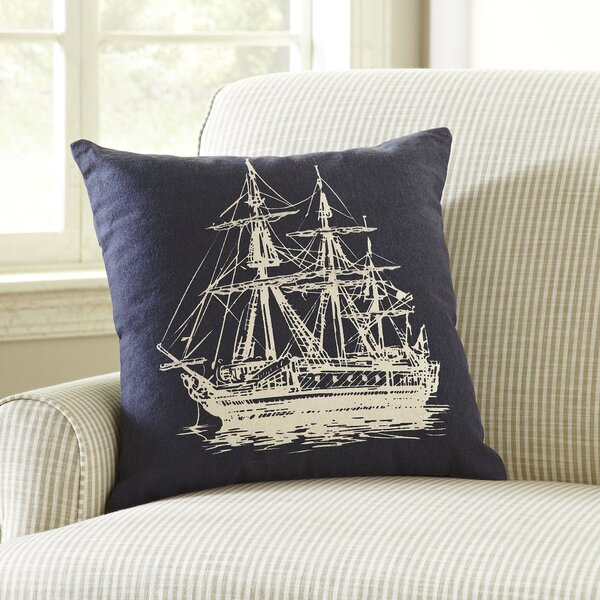 Sailboat Etching Pillow Cover by Birch Lane™