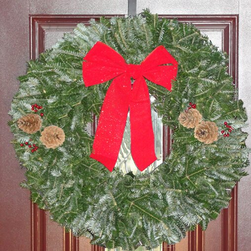 24 Classic Fraser Fir Wreath by The Holiday Aisle
