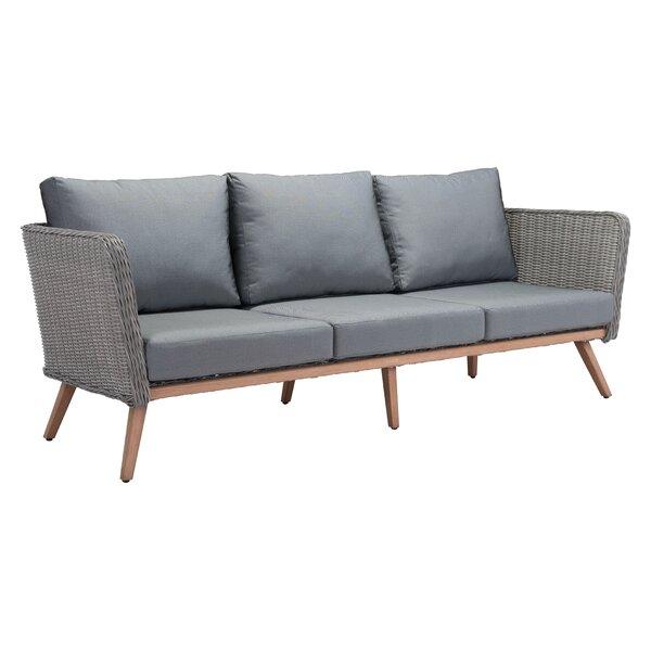 Enedina Patio Sofa with Cushions by Ivy Bronx Ivy Bronx