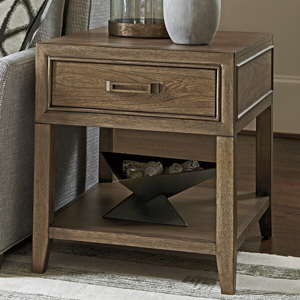 Cypress Point End Table with Storage by Tommy Bahama Home