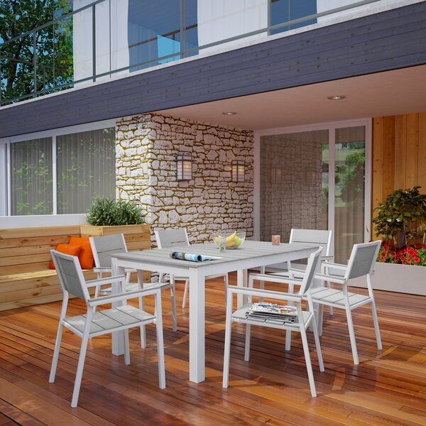 Ellport 7 Piece Outdoor Patio Dining Set by Latitude Run