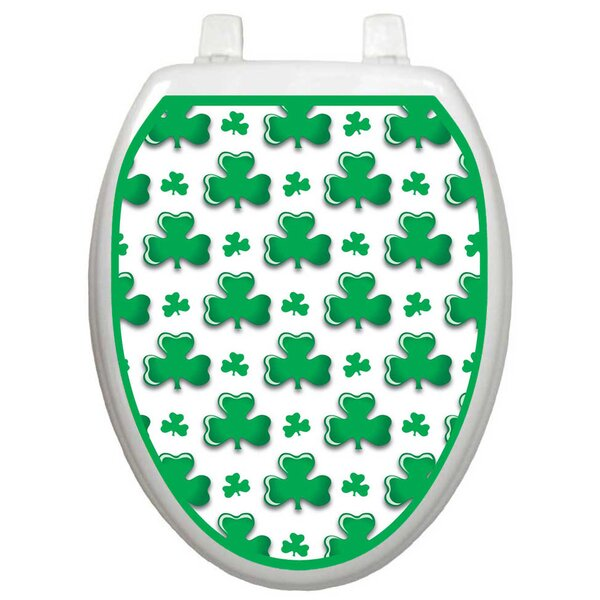 Seasonal Shamrock Toilet Seat Decal by Toilet Tattoos