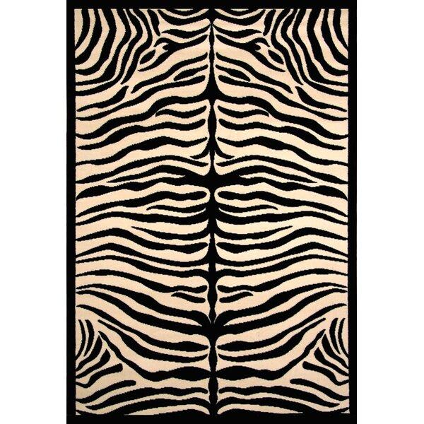 Arber Black/Ivory Area Rug by Bloomsbury Market