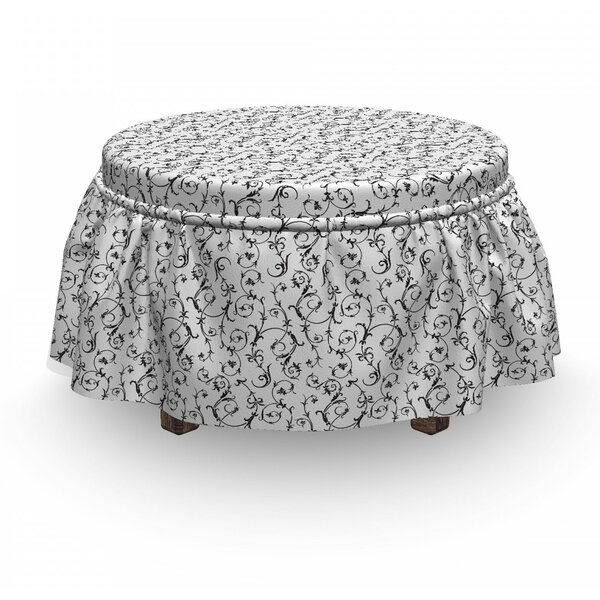 Classic Ivy Swirl Leaf Ottoman Slipcover (Set Of 2) By East Urban Home