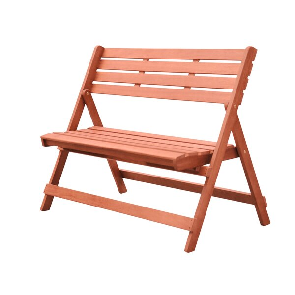 Casto Wooden Garden Bench by Longshore Tides