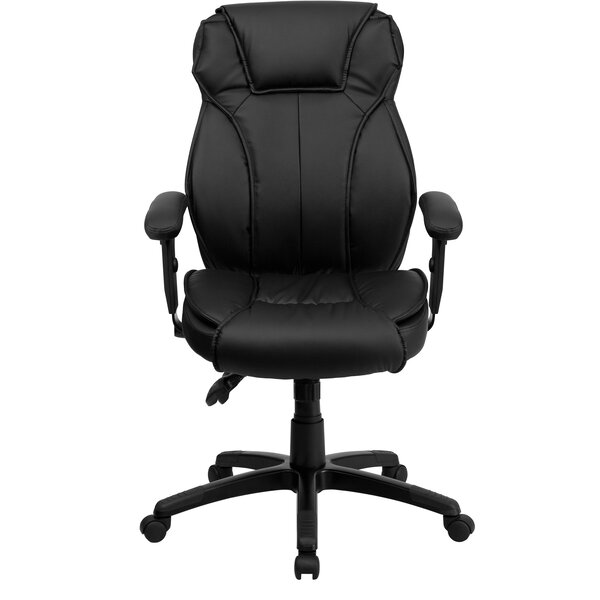 Woodfin Leather Executive Chair by Symple Stuff