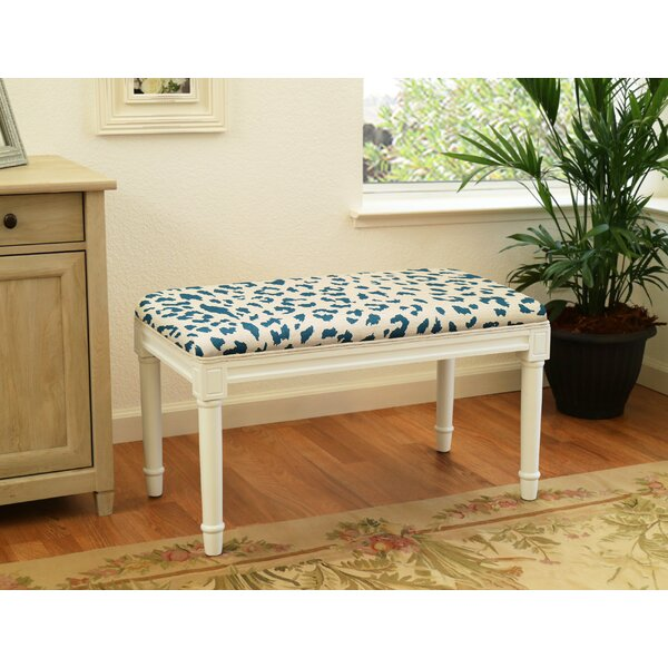 Augustine Cheetah Upholstered Bench by House of Hampton House of Hampton