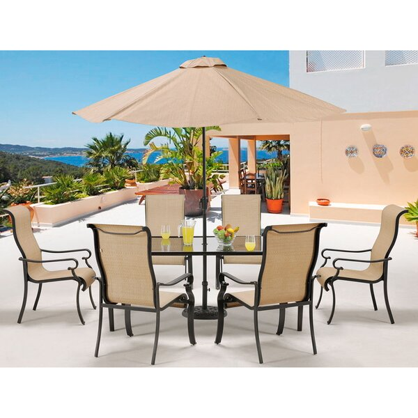 Elmar 7 Piece Dining Set by Rosecliff Heights