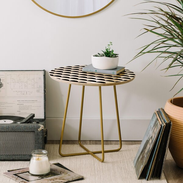 Little Arrow Design Co Mod Scallops End Table by East Urban Home
