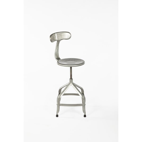 Byrd Adjustable Height Swivel Bar Stool by Williston Forge