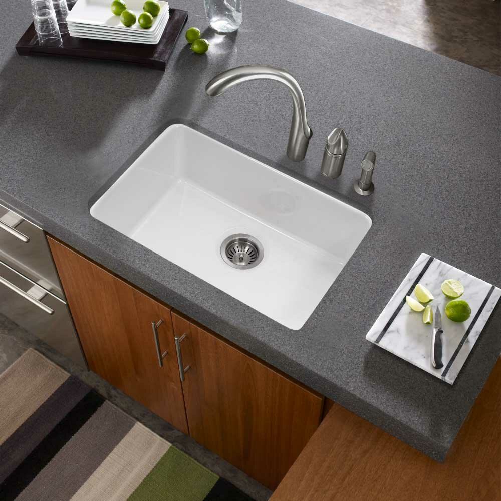 Houzer Platus Fireclay 23 X 16 Undermount Kitchen Sink