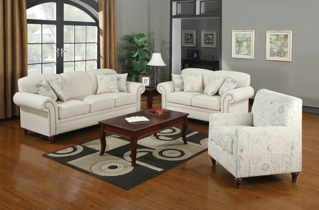 Lark Manor Axelle Linen Blend Living Room Collection Reviews