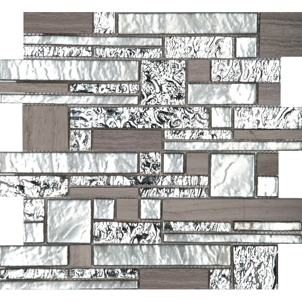 Vista 12 x 12 Glass Stone Blend Pattern Mosaic Tile in Panorama by Emser Tile
