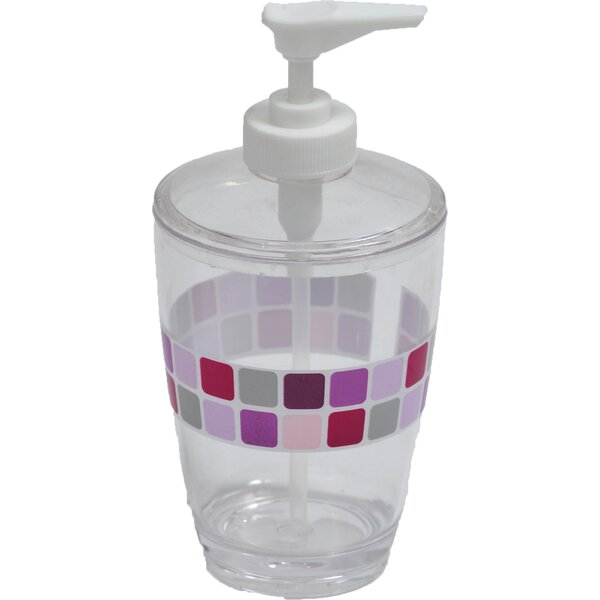 Mosaic Clear Acrylic Printed Bathroom Soap Dispenser by Evideco