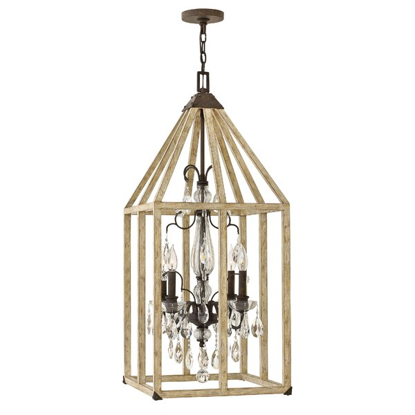 Allamanda 4 - Light Lantern Rectangle Chandelier By Gracie Oaks