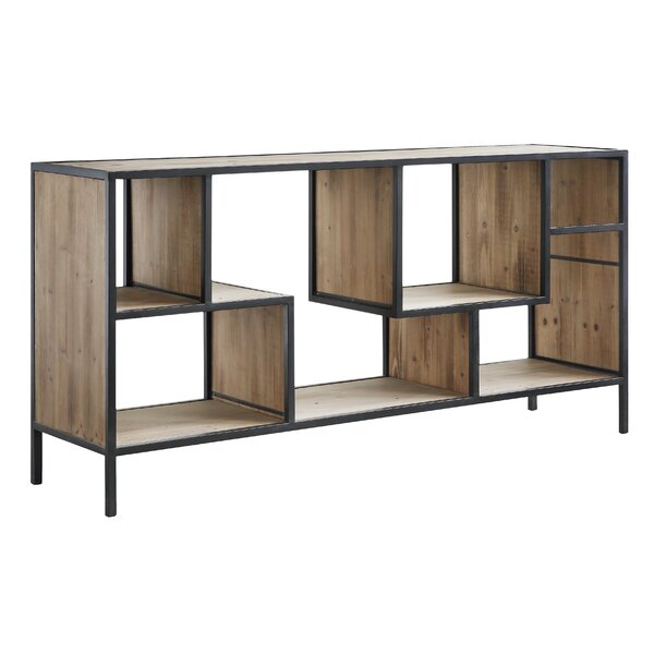 Review Jaramillo Angled Metal And Wood Console Table