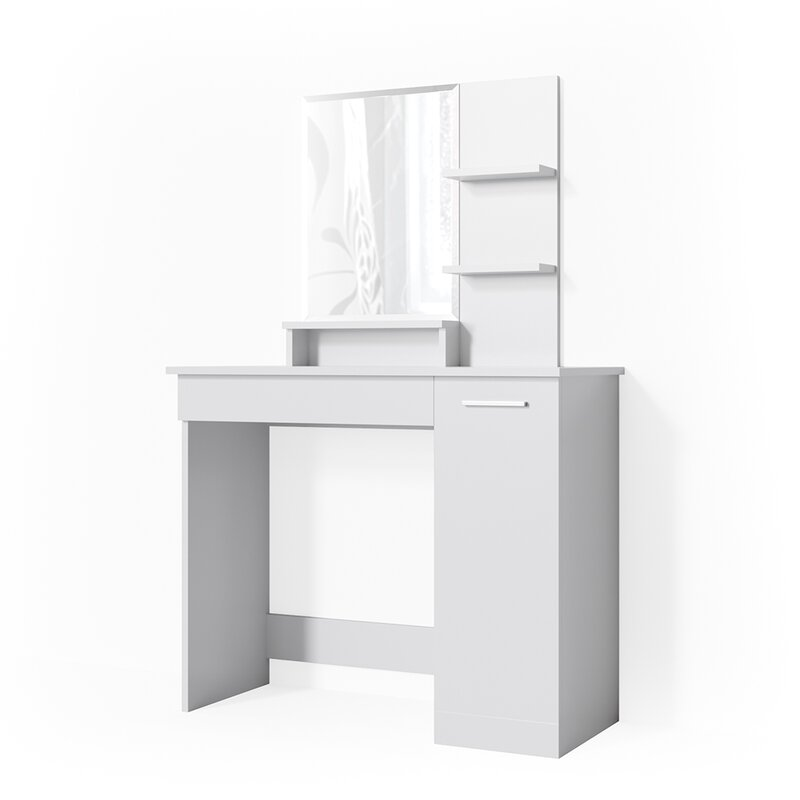 Fontanez Dressing Table With Mirror by Brayden Studio