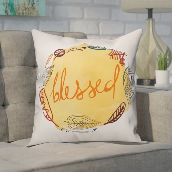 Auger Blessed Throw Pillow by Ivy Bronx