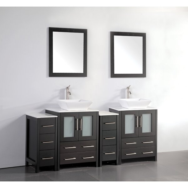 Melantha 72 Double Bathroom Vanity Set with Mirror by Brayden Studio